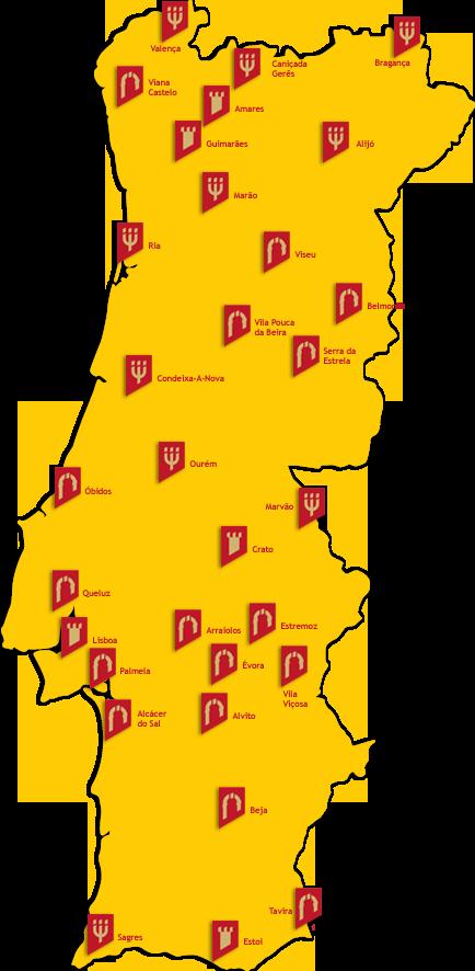 mapa pousadas de portugal pousadas mapa pousadas de portugal